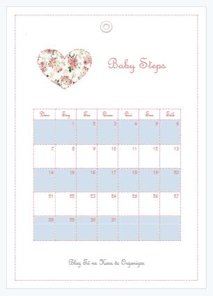 Calendário babysteps para baixar.