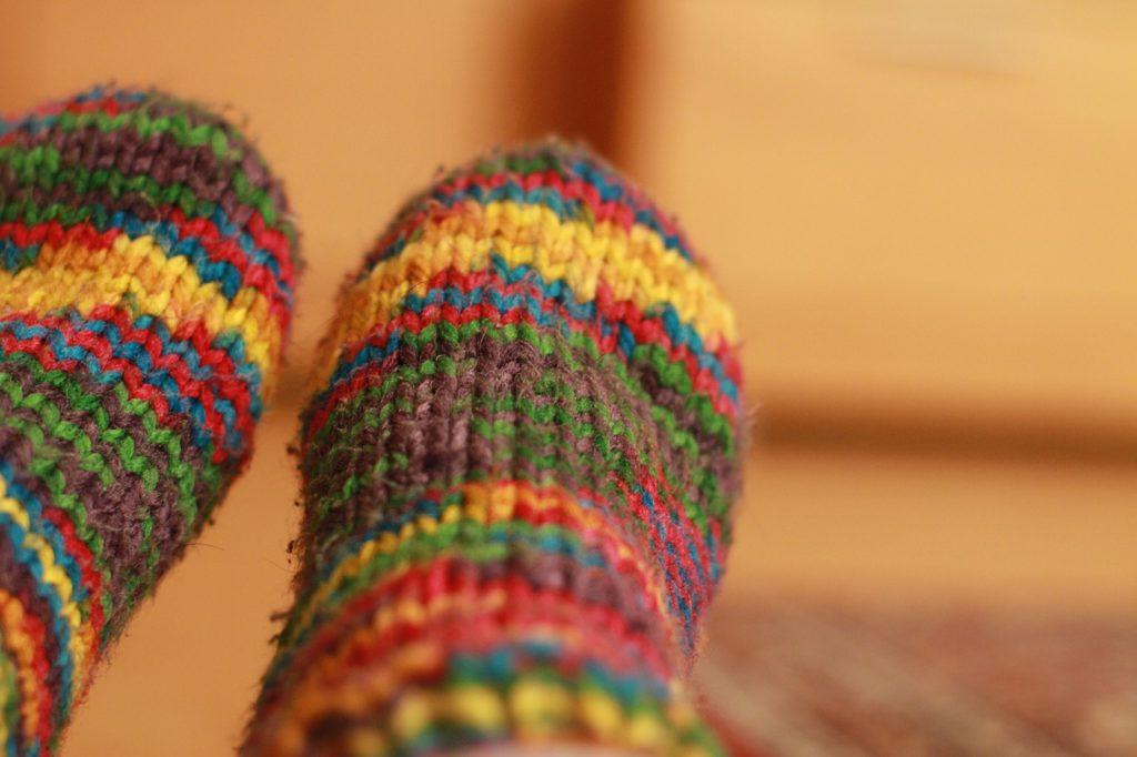 organize meias para o inverno