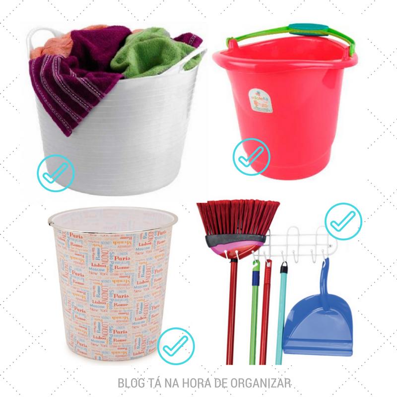 Lixeira, suporte, cestos e baldes.